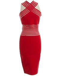 Christopher Kane - Red Viscose Dress - Lyst