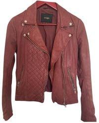 Maje Leather Short Vest - Multicolor
