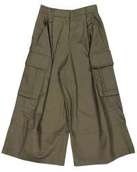 Valentino Pantalons en Coton Kaki - Vert