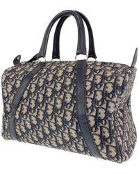 Dior Navy Cotton Handbag - Blue