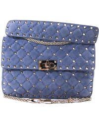 Valentino Blue Suede Handbag