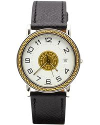 Hermès - Pre-owned Sellier Gold Gold And Steel Watches - Lyst