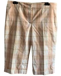 Burberry Pink Cotton Shorts