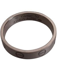 Cartier Love White Gold Ring - Grey