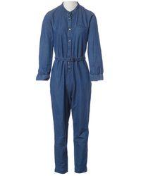 A.P.C. Blue Cotton Jumpsuits