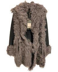 Rag & Bone Grey Shearling Coats