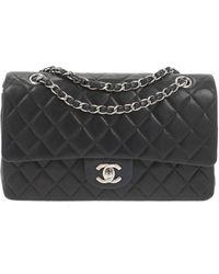 Chanel Sac à main Timeless/Classique en Cuir Noir