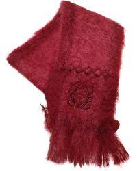 Loewe Wolle Schals - Rot