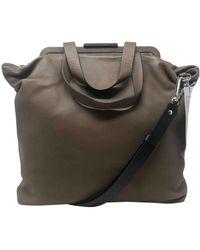 Marni Leather Satchel - Brown