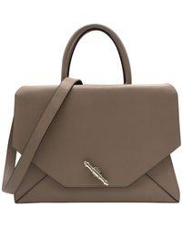 Givenchy Obsedia Tote Leather Handbag - Natural