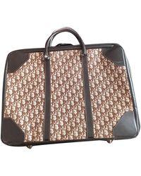 Dior Vintage Burgundy Cloth Travel Bag - Multicolor