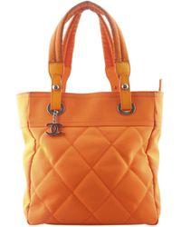 Chanel - Orange Cloth Handbag - Lyst