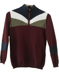 Stella Jean Burgundy Viscose Knitwear - Multicolor