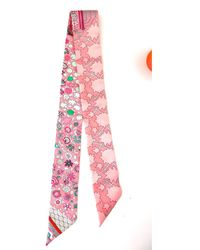 Hermès Twilly Pink Silk Scarf