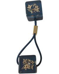 Louis Vuitton Accessorio per capelli in plastica blu Monogram