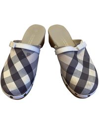Burberry Cloth Mules & Clogs - Natural