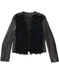 JOSEPH - Black Leather Leather Jacket - Lyst