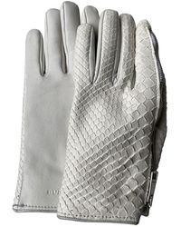 Burberry Python Handschuhe - Weiß