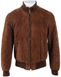 Burberry - Pre-owned Brown Suede Jackets - Lyst