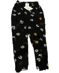 Ganni Fall Winter 2019 Black Polyester Pants