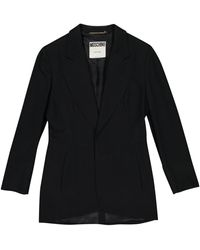 Moschino - Black Wool Jacket - Lyst