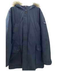 Woolrich Blue Synthetic Coat