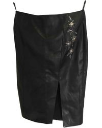 Dior Black Leather Skirt