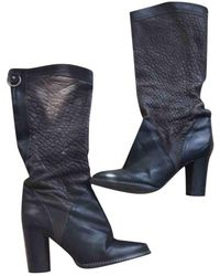 Balmain Stivali in pelle nero