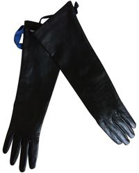 Max Mara Leder Lange handschuhe - Mehrfarbig