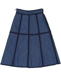 Miu Miu Gonne in LOWER()Denim - jeans LOWER()Blu