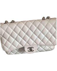 Chanel Timeless Leder Handtaschen - Weiß