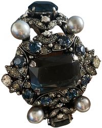 Lanvin Blue Metal Bracelet