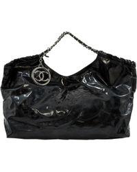 846c87cd8145 Chanel - Coco Cabas Black Plastic Handbag - Lyst