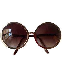 By Malene Birger \n Brown Metal Sunglasses