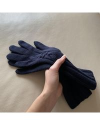 Chanel Guantes en cachemira azul