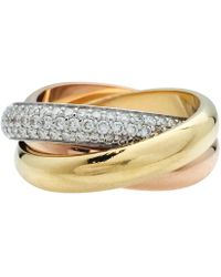 Cartier - Trinity Other Yellow Gold Ring - Lyst