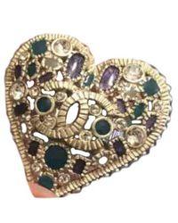 Chanel Anello in acciaio dorato CC - Multicolore