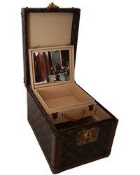 Louis Vuitton Cloth Vanity Case - Brown