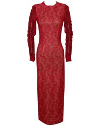 Alessandra Rich - Red Lace - Lyst