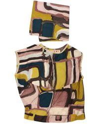 Marni - Multicolour Silk Top - Lyst
