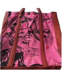 John Galliano Leather Handbag - Pink