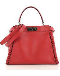 7935a2042a77 Fendi Micro Peekaboo Mink-fur Cross-body Bag in Pink - Lyst