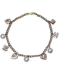 Chanel Collar en perlas - Multicolor