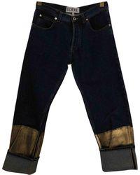 Loewe - Navy Denim - Jeans Trousers - Lyst