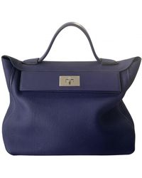 Hermès Borsa 24/24 in Pelle - Blu