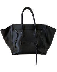 Celine Sac à main Luggage Phantom en cuir - Noir