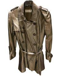 Dior Gold Silk Trench Coats - Multicolour
