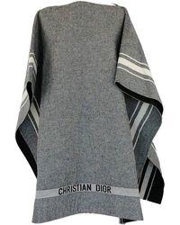 Dior Wool Poncho - Gray