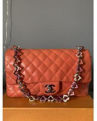 Chanel Sac à main Timeless/Classique en Cuir Rose