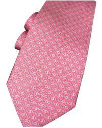 Ferragamo Seide Krawatten - Pink